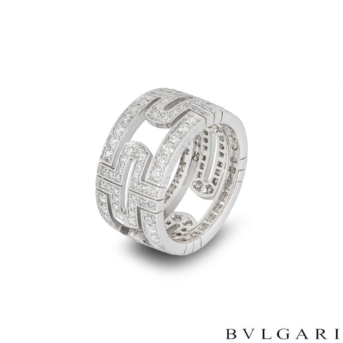 Bvlgari White Gold Diamond Parentesi Ring